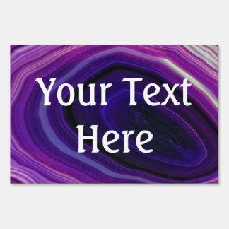 Falln Swirled Purple Geode Sign