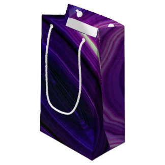 Falln Swirled Purple Geode Small Gift Bag