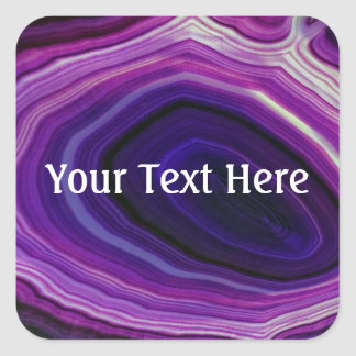 Falln Swirled Purple Geode Square Sticker