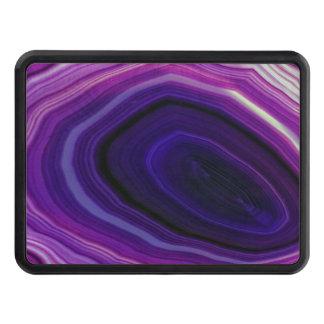 Falln Swirled Purple Geode Trailer Hitch Cover