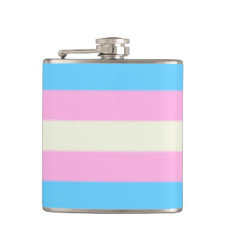 Falln Transgender Pride Flag Hip Flask