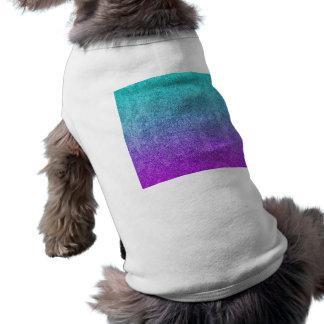 Falln Tropical Dusk Glitter Gradient Dog Shirt