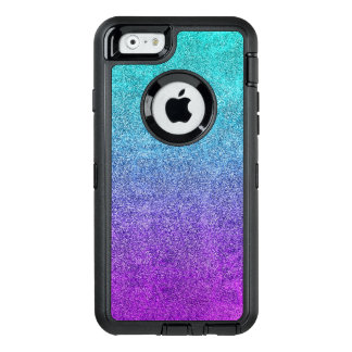 Falln Tropical Dusk Glitter Gradient OtterBox Defender iPhone Case