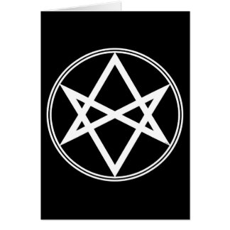 Falln Unicursal Hexagram White Card
