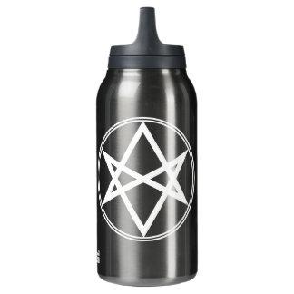 Falln Unicursal Hexagram White Insulated Water Bottle