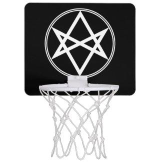 Falln Unicursal Hexagram White Mini Basketball Hoop