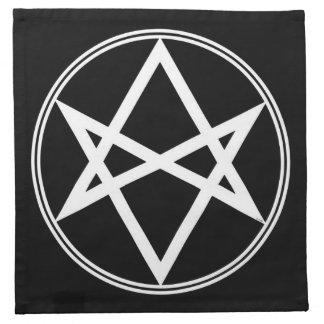 Falln Unicursal Hexagram White Napkin