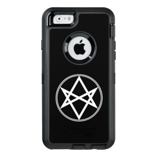 Falln Unicursal Hexagram White OtterBox Defender iPhone Case