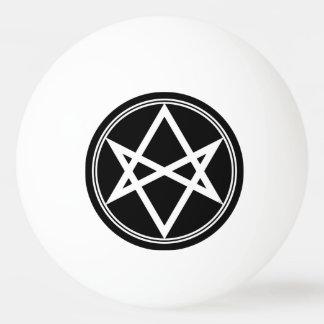Falln Unicursal Hexagram White Ping Pong Ball