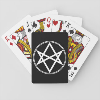 Falln Unicursal Hexagram White Playing Cards