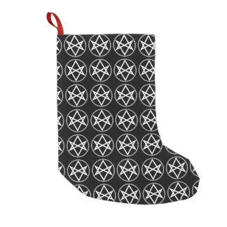 Falln Unicursal Hexagram White Small Christmas Stocking