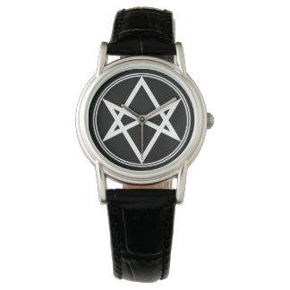 Falln Unicursal Hexagram White Wristwatches