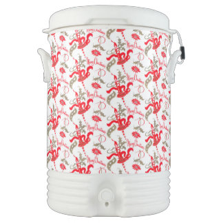 Falln Vintage Merry Christmas Candles Cooler