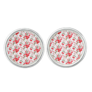 Falln Vintage Merry Christmas Candles Cufflinks