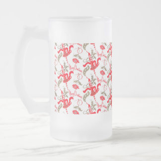 Falln Vintage Merry Christmas Candles Frosted Glass Beer Mug