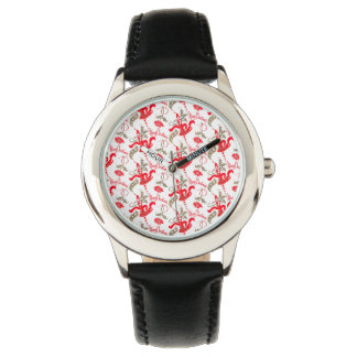 Falln Vintage Merry Christmas Candles Wrist Watch