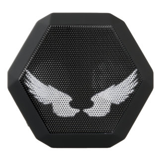 Falln White Angel Wings Black Bluetooth Speaker