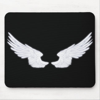 Falln White Angel Wings Mouse Pad