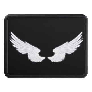 Falln White Angel Wings Trailer Hitch Cover
