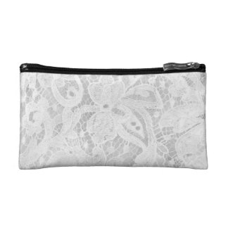 Falln White Lace Makeup Bags