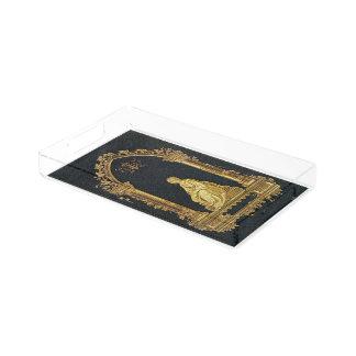 Falln Woman in Gold Book Cover Acrylic Tray