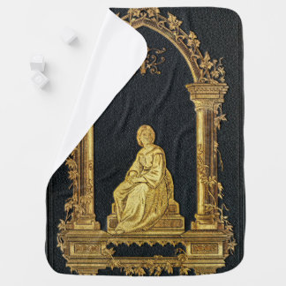 Falln Woman in Gold Book Cover Baby Blanket