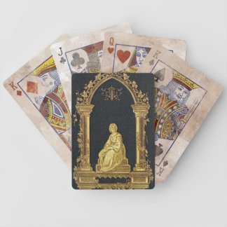 Falln Woman in Gold Book Cover Bicycle Playing Cards