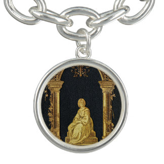 Falln Woman in Gold Book Cover Bracelet