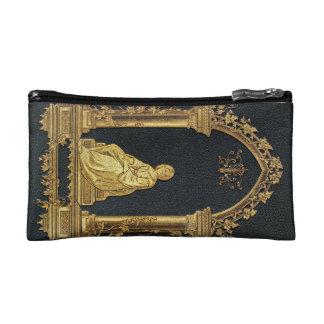 Falln Woman in Gold Book Cover Cosmetic Bag