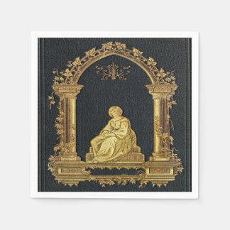 Falln Woman in Gold Book Cover Paper Napkin