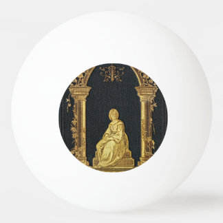 Falln Woman in Gold Book Cover Ping Pong Ball
