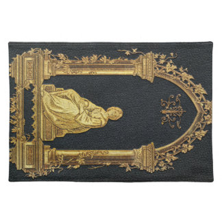 Falln Woman in Gold Book Cover Placemat