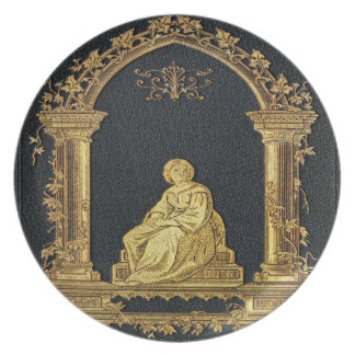 Falln Woman in Gold Book Cover Plate