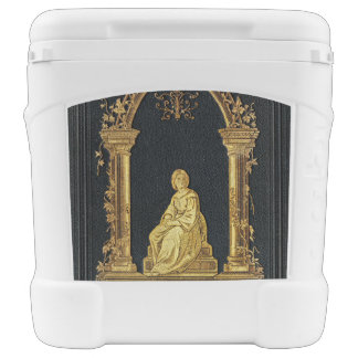 Falln Woman in Gold Book Cover Rolling Cooler