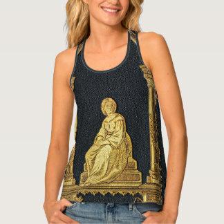 Falln Woman in Gold Book Cover Tank Top