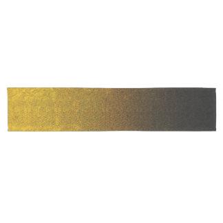 Falln Yellow & Black Glitter Gradient Short Table Runner