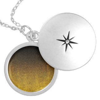 Falln Yellow & Black Glitter Gradient Silver Plated Necklace