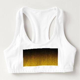 Falln Yellow & Black Glitter Gradient Sports Bra