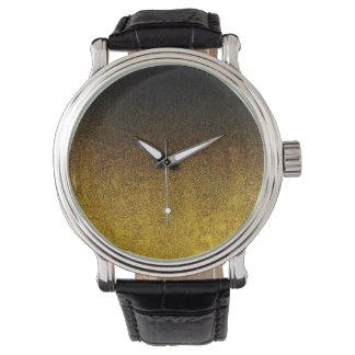 Falln Yellow & Black Glitter Gradient Watches