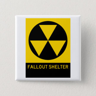 Fallout Shelter Highway Sign 2 Inch Square Button