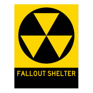 Fallout Shelter Highway Sign Postcard