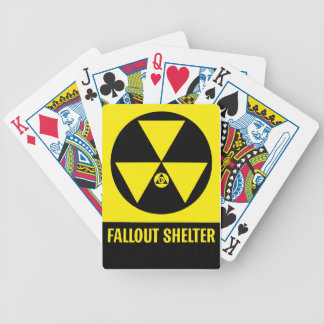 Fallout Shelter Sign Playing Cards