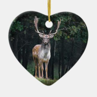 fallow ceramic heart ornament