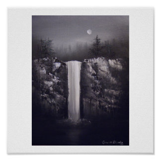 Falls by Moonlight Poster