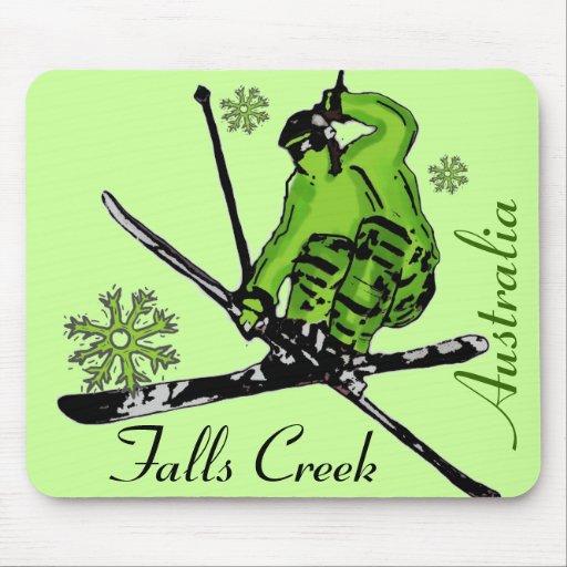 Falls Creek Australia green theme ski mousepad