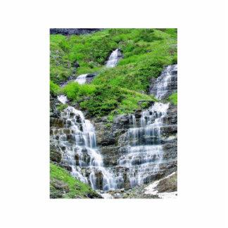 Falls In Glacier Cut Out