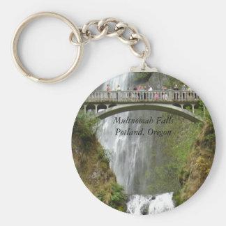 Falls, Multnomah FallsPotland, Oregon Basic Round Button Keychain