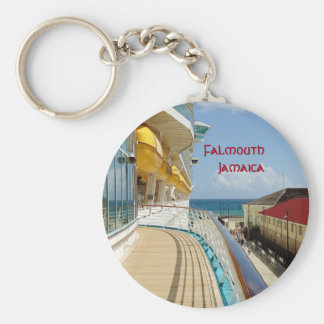 Falmouth Dockside Basic Round Button Keychain