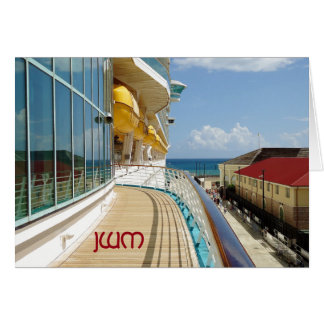 Falmouth Dockside Monogrammed Blank Note Cards