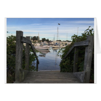 Falmouth Inner Harbor Greeting Card